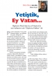 Yetiştik, Ey Vatan…